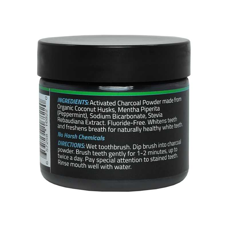 activated charcoal teeth whitening powder mckenzie green. Black Bedroom Furniture Sets. Home Design Ideas
